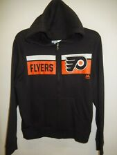 0310 Mens PHILADELPHIA FLYERS Full Zip Hooded Hoodie Jersey SWEATSHIRT BLACK