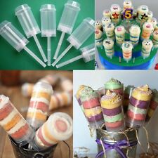 NEW 10 Pcs Plastic Push Pop Containers Lids Cake Shooters Push Up Birthday ABS