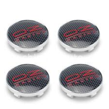 OZ sport de fibra de carbono Aleación Rueda Centro Tapas Juego De 4 Centro HUB Negro/Rojo 60mm