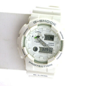 Casio G-Shock GMAS110CM-7A1 S Series White Digital Analog Quartz Date Watch