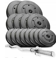 *POWER TREX 36kg Curl Bar Dumbbell Barbell Weights Set, gym barbells PRO*