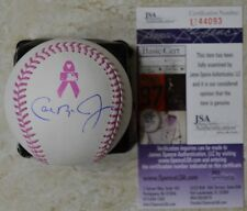 Cal Ripken Jr. Signed OMLB Breast Cancer Baseball w/ JSA COA #U44093 Orioles