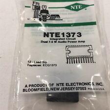 (1) NTE NTE1373 Integrated Circuit Dual Audio Power Amplifier Circuit, 7.5W
