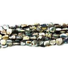 Strand 28+ Rainbow Abalone Paua Shell Approx 10 x 14mm Nugget Beads CB45693