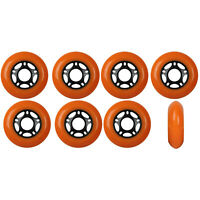 Inline Skate Wheels 80mm 89A Outdoor Orange Rollerblade Hockey 8 Pack