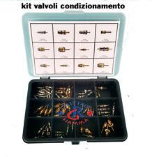 KIT VALVOLINI CONDIZIONATORE AUTO GAS R134A R12 R22 R407C R404 R410 R290 R600 EC