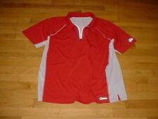 Cabela's XPG Men's CoolPhase Short-Sleeve Zip Polo Orange/Gray Logos XL Nice!!!