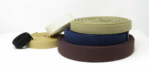 Natural Cotton Canvas Webbing, Bag Strap, Heavy Duty -  25mm, 38mm or 50mm