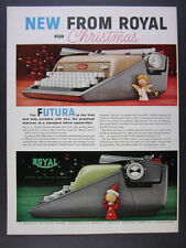 1958 Royal FUTURA Portable Typewriter color photos vintage print Ad