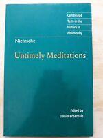 Untimely Meditations. Nietzsche