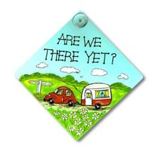 "Smiley signs, Window Signs for Caravans, Cars and Homes ""ARE WE THERE YET?"""