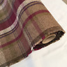 Heather Maroon CHECK Balmoral Wool Effect Tartan Upholstery Curtain Fabric
