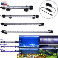 Aquarium Fish Tank Submersible Waterproof Acrylic LED Light 18/28/38/48CM Bar US