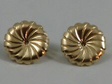 Pair X-Large 9.5MM Yellow Gold Filled Butterfly Disk Replacement Earring Backs