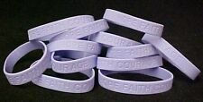 Gynecological Cancer Awareness Bracelet Lavender 12 piece Lot Silicone New