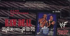 WWE Raw Deal CCG Backlash Starter Deck Display MINT