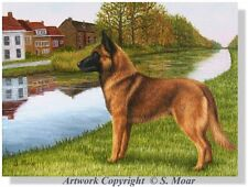 Belgian Shepherd Malinois Dog Historical Limited Edition Art Print For Rescue