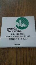 Pga Championship 1977 Pebble Beach Tour perfect original matches Jack Nicklaus