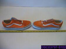 New No Tag Vans Orange Lace Up Casual Suede Skate Sneaker 6.5 Mens 8 Ladies