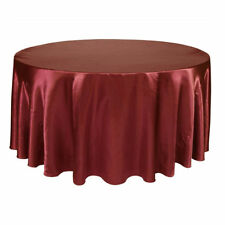 Round Table Cloth Topper Tablecloth Satin Oilproof Wedding Banquet Decoration
