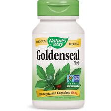 Natures Way Goldenseal Herb 1,5 Percent Total Alkaloids 400 mg - 100 Capsules