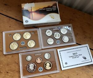 American 2013 Proof Coin Set Great Item Boxed With Certificate