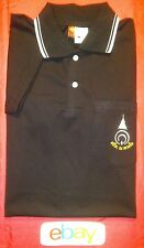 NEW NWT ! Men sz XL JET BLACK ARABIC ISLAMIC MIDDLE EASTERN LOGO POLO SHIRT