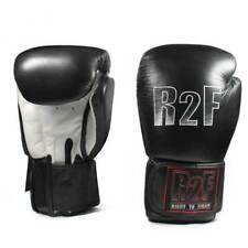 R2F10ozBk All leather boxing gloves with wrist support Right 2 fight 10 oz boxer