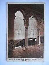 """CPA """"Balneario de archena (Murcia) - Arcos arabes en el hotel Termas"""""""