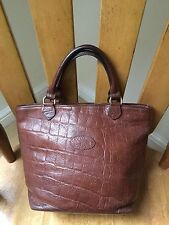 Vintage Mulberry brown nile Congo leather Hellier bucket tote bag brass hardware