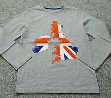 Mini Boden Garçons Applique Haut Manches Longues Coton. UK taille 7-8 ans