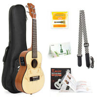 "23"" Ukulele Kit Musical Concert Electric Acoustic Hawaii Guitar for Beginner"