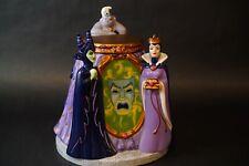 Rare Disney Villains Cookie Jar Maleficent, Evil Queen Ursula & Mirror