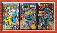 Lot of 3 Superman #323(8.0) 324(7.0) 325(7.5) Bronze Age DC Comics 1978