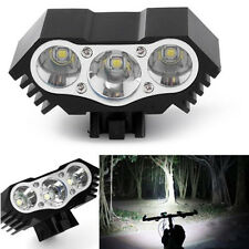 3 Cree U2 LED Mountain Bike Light Bicycle Cycle Torch Headlamp 10000LM