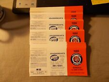 LOT OF 220+ DETROIT TIGERS POCKET SCHEDULES NEVER FOLDED FROM 1988 ASADOORIAN'S