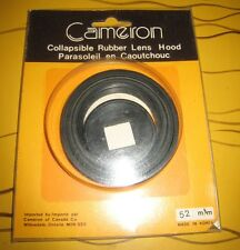 CAMERON Collapsible Rubber Lens Hood 52mm Brand New sealed old accesory