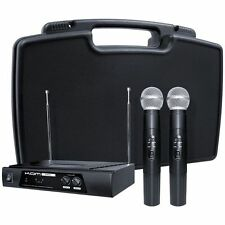 Kam KWM11 173.8MHz - 175MHz VHF Dual Twin Wireless Microphone System