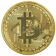 Gold Bitcoin Commemorative Round Collectors Coin Bit Coin is Gold Plated Coins
