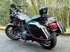Tsukayu Strong Hard saddlebags For Harley H-D FXDX Dyna Super Glide Sport(Black)