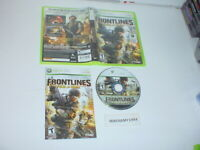 FRONTLINES: FUEL OF WAR game complete in case w/ manual for Microsoft XBOX 360