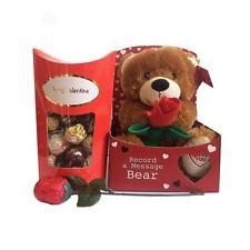 Valentines Gift Set Teddy Bear Chocolate Rose Ferrero Rocher Chocolates