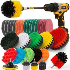 Drill Brush Power Scrubber Attachment Kit Tile Carpet Car Cleaning Tool Set