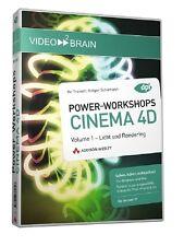 video2brain CINEMA 4D Power-Workshops Licht- und Rendering Volume 1 DVD NEU