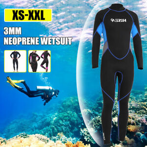 3mm Wetsuit Full Body Diving Suit Zippered Snorkeling Surfing Suit for Women Men