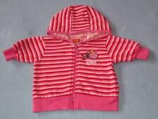 Oky Doky Cute Girls Pink Striped Hooded Jacket, Size 000