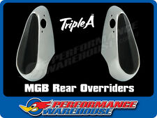 MGB MG REAR OVERRIDERS WITH RUBBER LEFT SIDE & RIGHT SIDE BRAND NEW