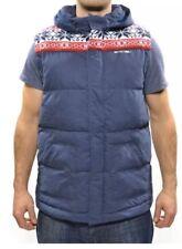 Joe Animal para hombre de invierno acolchada con capucha Chaleco
