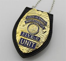 Hawaii Five-0 Cos Badges Metal Belt Emblem & Chain Leather Holder Collection