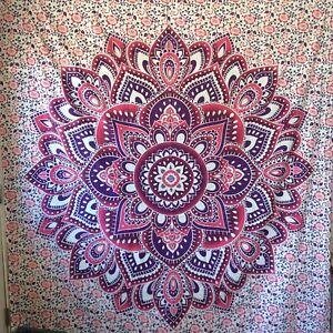 Mandala Flower Tapestry Wall Hanging Hippie Throw Bohemian Cover Sheet